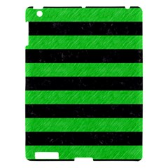 Stripes2 Black Marble & Green Colored Pencil Apple Ipad 3/4 Hardshell Case