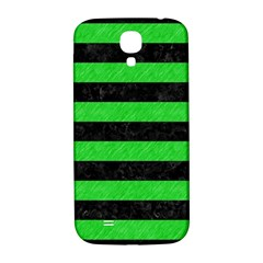 Stripes2 Black Marble & Green Colored Pencil Samsung Galaxy S4 I9500/i9505  Hardshell Back Case