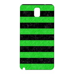 Stripes2 Black Marble & Green Colored Pencil Samsung Galaxy Note 3 N9005 Hardshell Back Case