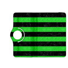 Stripes2 Black Marble & Green Colored Pencil Kindle Fire Hdx 8 9  Flip 360 Case