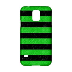 Stripes2 Black Marble & Green Colored Pencil Samsung Galaxy S5 Hardshell Case