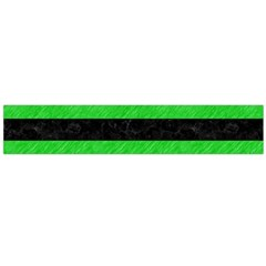 Stripes2 Black Marble & Green Colored Pencil Flano Scarf (large)