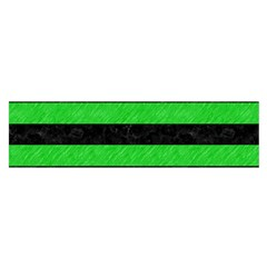 Stripes2 Black Marble & Green Colored Pencil Satin Scarf (oblong)
