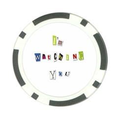 I Am Watching You Poker Chip Card Guard (10 Pack)