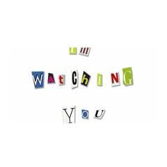 I Am Watching You Satin Wrap