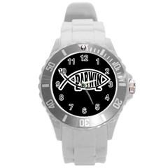 Darwin Fish Round Plastic Sport Watch (l)