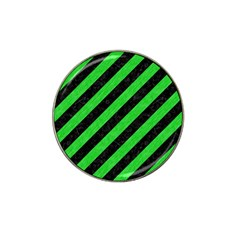 Stripes3 Black Marble & Green Colored Pencil Hat Clip Ball Marker (4 Pack)