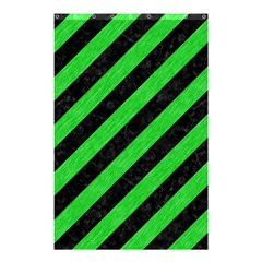 Stripes3 Black Marble & Green Colored Pencil Shower Curtain 48  X 72  (small)