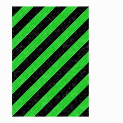 Stripes3 Black Marble & Green Colored Pencil Small Garden Flag (two Sides)