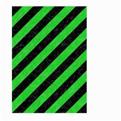 Stripes3 Black Marble & Green Colored Pencil Large Garden Flag (two Sides)