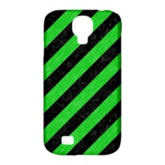 Stripes3 Black Marble & Green Colored Pencil Samsung Galaxy S4 Classic Hardshell Case (pc+silicone)