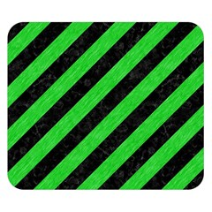 Stripes3 Black Marble & Green Colored Pencil Double Sided Flano Blanket (small)