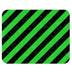 Stripes3 Black Marble & Green Colored Pencil Double Sided Flano Blanket (medium)
