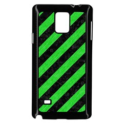 Stripes3 Black Marble & Green Colored Pencil Samsung Galaxy Note 4 Case (black)