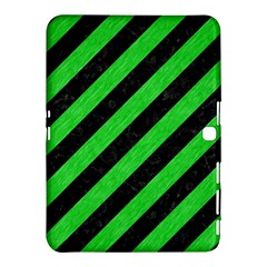 Stripes3 Black Marble & Green Colored Pencil Samsung Galaxy Tab 4 (10 1 ) Hardshell Case