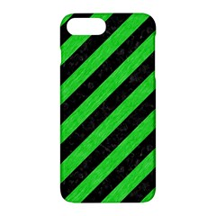 Stripes3 Black Marble & Green Colored Pencil Apple Iphone 7 Plus Hardshell Case