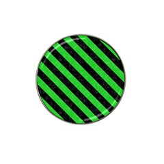 Stripes3 Black Marble & Green Colored Pencil (r) Hat Clip Ball Marker (10 Pack)