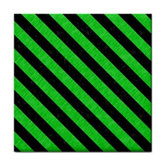 Stripes3 Black Marble & Green Colored Pencil (r) Face Towel