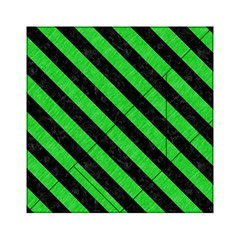 Stripes3 Black Marble & Green Colored Pencil (r) Acrylic Tangram Puzzle (6  X 6 )