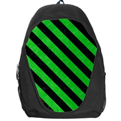 Stripes3 Black Marble & Green Colored Pencil (r) Backpack Bag
