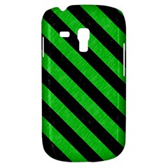 Stripes3 Black Marble & Green Colored Pencil (r) Galaxy S3 Mini