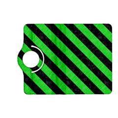 Stripes3 Black Marble & Green Colored Pencil (r) Kindle Fire Hd (2013) Flip 360 Case