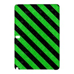 Stripes3 Black Marble & Green Colored Pencil (r) Samsung Galaxy Tab Pro 10 1 Hardshell Case