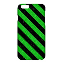 Stripes3 Black Marble & Green Colored Pencil (r) Apple Iphone 6 Plus/6s Plus Hardshell Case