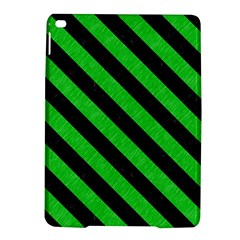 Stripes3 Black Marble & Green Colored Pencil (r) Ipad Air 2 Hardshell Cases