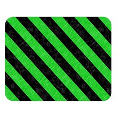 Stripes3 Black Marble & Green Colored Pencil (r) Double Sided Flano Blanket (large)