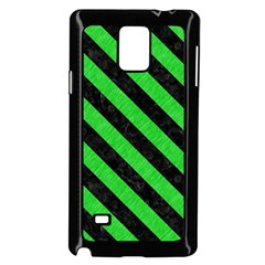 Stripes3 Black Marble & Green Colored Pencil (r) Samsung Galaxy Note 4 Case (black)