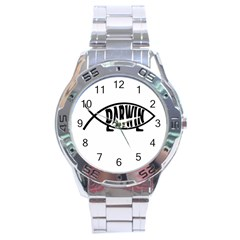 Darwin Fish Stainless Steel Analogue Watch