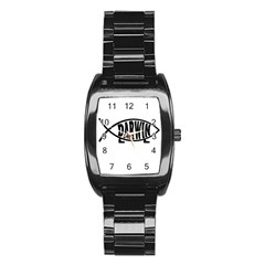 Darwin Fish Stainless Steel Barrel Watch