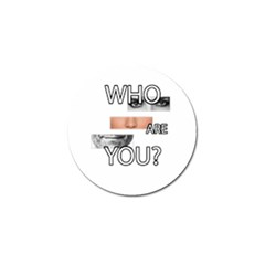 Who Are You Golf Ball Marker (4 Pack)