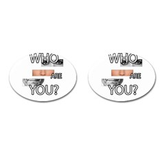 Who Are You Cufflinks (oval)