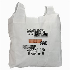Who Are You Recycle Bag (two Side)