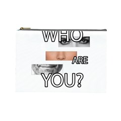 Who Are You Cosmetic Bag (large)