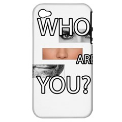 Who Are You Apple Iphone 4/4s Hardshell Case (pc+silicone)