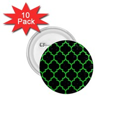 Tile1 Black Marble & Green Colored Pencil 1 75  Buttons (10 Pack)