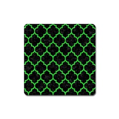 Tile1 Black Marble & Green Colored Pencil Square Magnet