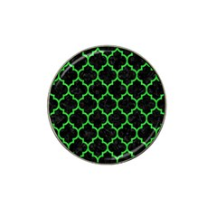 Tile1 Black Marble & Green Colored Pencil Hat Clip Ball Marker (4 Pack)
