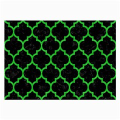 Tile1 Black Marble & Green Colored Pencil Large Glasses Cloth (2 Side)