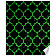 Tile1 Black Marble & Green Colored Pencil Canvas 11  X 14