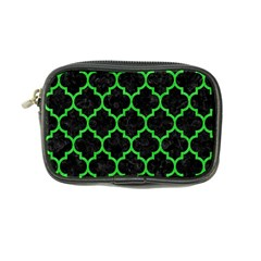 Tile1 Black Marble & Green Colored Pencil Coin Purse