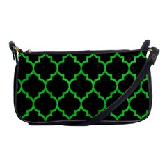 Tile1 Black Marble & Green Colored Pencil Shoulder Clutch Bags