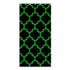 Tile1 Black Marble & Green Colored Pencil Shower Curtain 36  X 72  (stall)