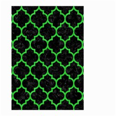Tile1 Black Marble & Green Colored Pencil Small Garden Flag (two Sides)