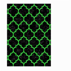 Tile1 Black Marble & Green Colored Pencil Large Garden Flag (two Sides)