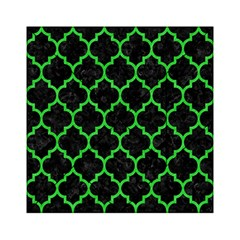 Tile1 Black Marble & Green Colored Pencil Acrylic Tangram Puzzle (6  X 6 )