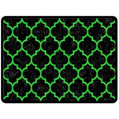 Tile1 Black Marble & Green Colored Pencil Double Sided Fleece Blanket (large)